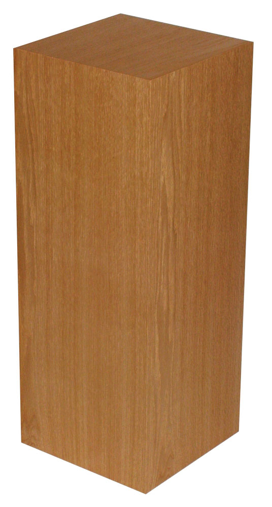 Xylem Cherry Wood Veneer Pedestal: 15 X 15 Inches Size, 12 Inches Height