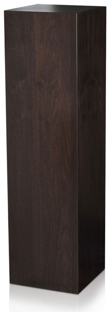 Xylem Ebony Walnut Wood Veneer Pedestal: 15 x 15 Inches Size, 18 Inches Height