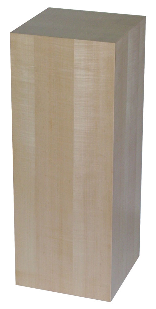 Xylem Maple Wood Veneer Pedestal: 15 X 15 Inches Size, 12 Inches Height