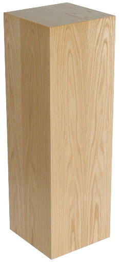 Xylem Oak Wood Veneer Pedestal: 15 X 15 Inches Size, 18 Inches Height