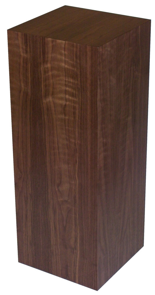 Xylem Walnut Wood Veneer Pedestal: 15 X 15 Inches Size, 12 Inches Height