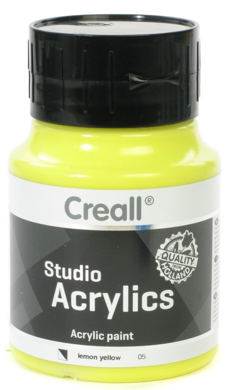 Creall Studio Acrylics: 500 ml, 05 Lemon Yellow