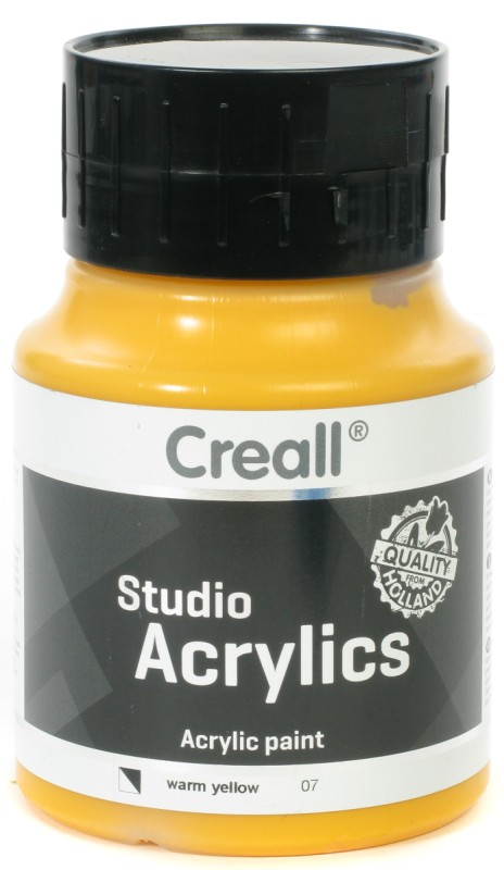 Creall Studio Acrylics: 500 ml, 07 Warm Yellow