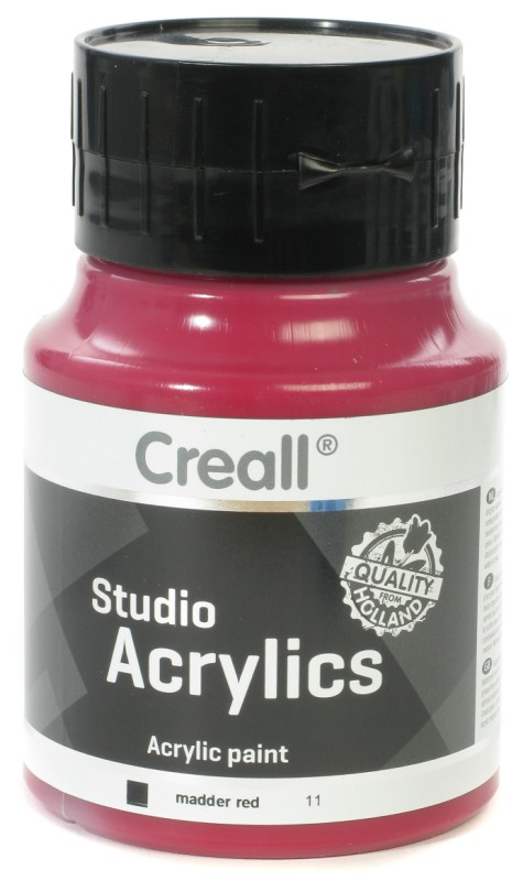 Creall Studio Acrylics: 500 ml, 11 Madder Red