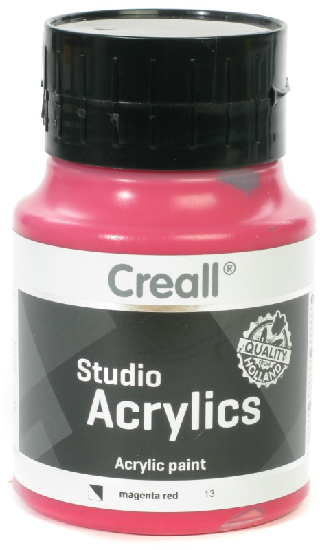 Creall Studio Acrylics: 500 ml, 13 Magenta Red
