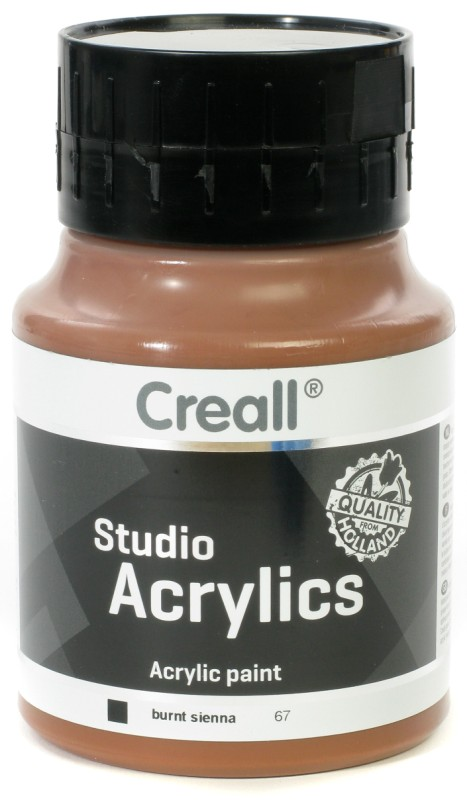 Creall Studio Acrylics: 500 ml, 67 Burnt Sienna