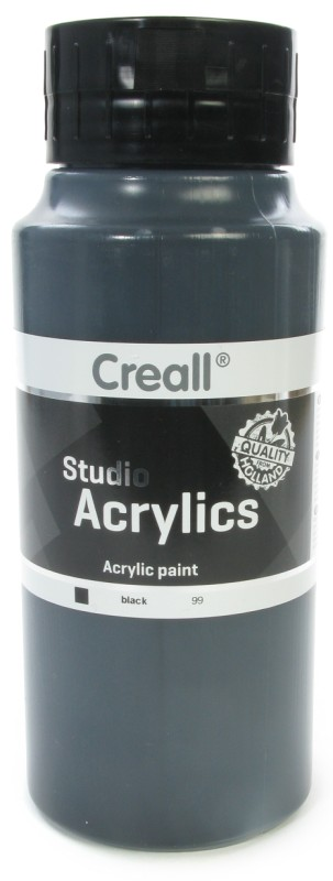Creall Studio Acrylics: 1000 ml, 99 Black