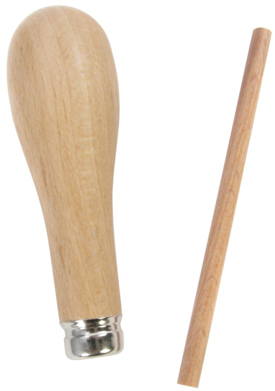 ABIG Beech Wood Handle Fitted with Metal Ferrule
