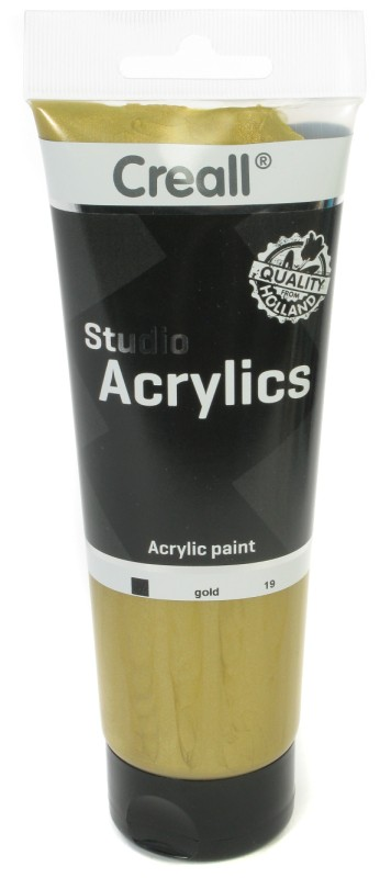 Creall Studio Acrylics Tube: 250 ml, 19 Gold