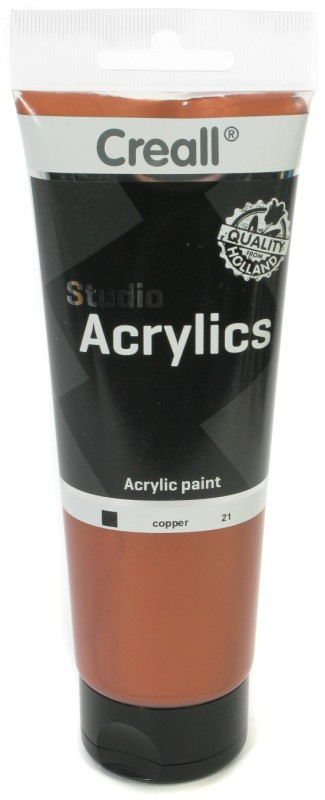 Creall Studio Acrylics Tube: 250 ml, 21 Copper