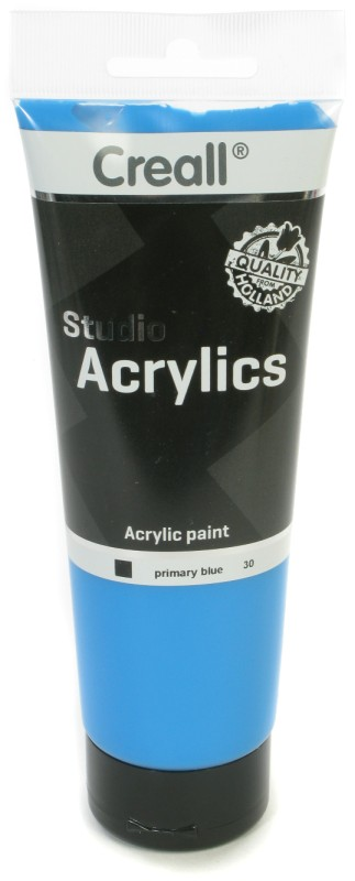 Creall Studio Acrylics Tube: 250 ml, 30 Primary Blue