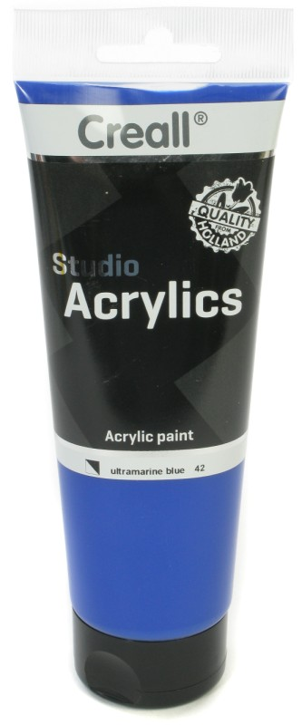 Creall Studio Acrylics Tube: 250 ml, 42 Ultramarine Blue