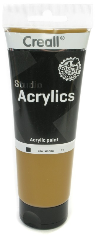 Creall Studio Acrylics Tube: 250 ml, 61 Raw Sienna