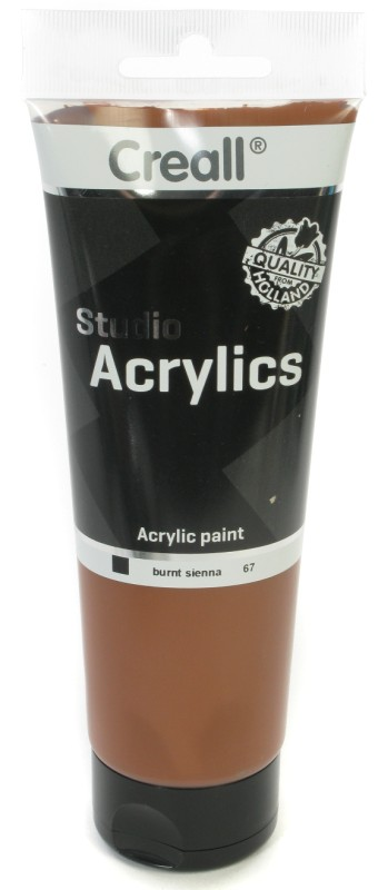 Creall Studio Acrylics Tube: 250 ml, 67 Burnt Sienna