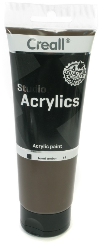 Creall Studio Acrylics Tube: 250 ml, 69 Burnt Umber