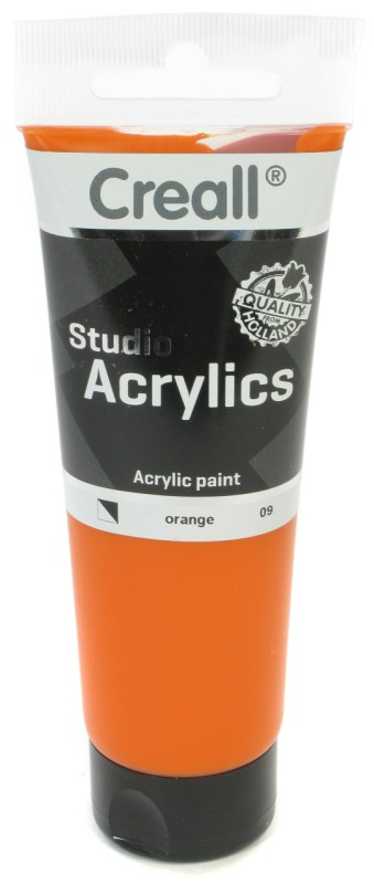 Creall Studio Acrylics Tube: 120 ml, 09 Orange