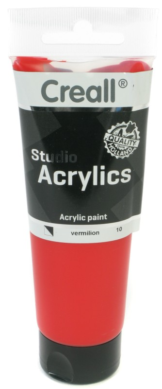 Creall Studio Acrylics Tube: 120 ml, 10 Vermillion