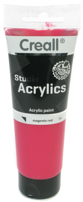 Creall Studio Acrylics Tube: 120 ml, 13 Magenta Red