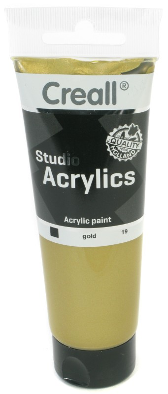 Creall Studio Acrylics Tube: 120 ml, 19 Gold