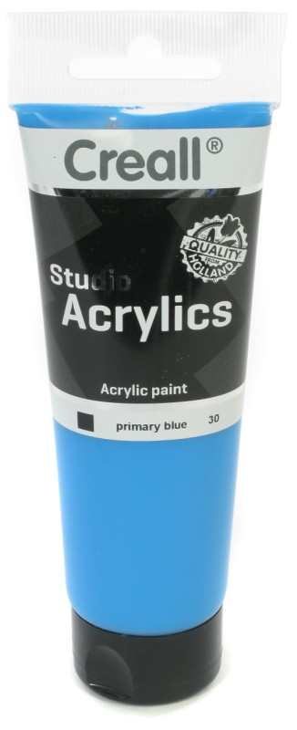 Creall Studio Acrylics Tube: 120 ml, 30 Primary Blue