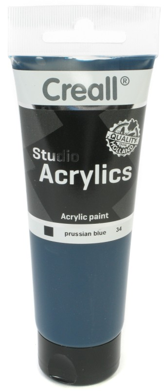 Creall Studio Acrylics Tube: 120 ml, 34 Prussian Blue