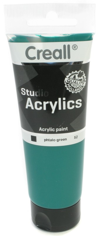 Creall Studio Acrylics Tube: 120 ml, 52 Phtalo Green