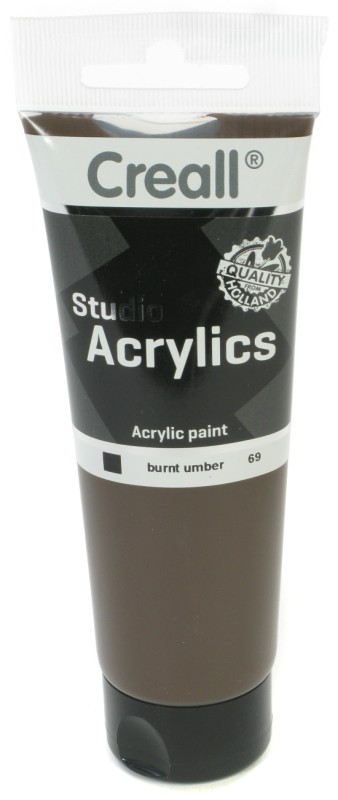 Creall Studio Acrylics Tube: 120 ml, 69 Burnt Umber
