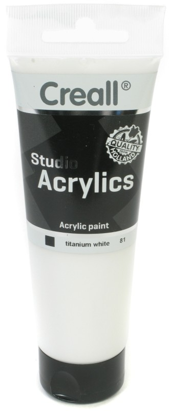 Creall Studio Acrylics Tube: 120 ml, 81 White