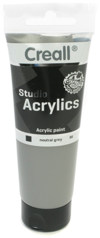 Creall Studio Acrylics Tube: 120 ml, 98 Neutral Grey