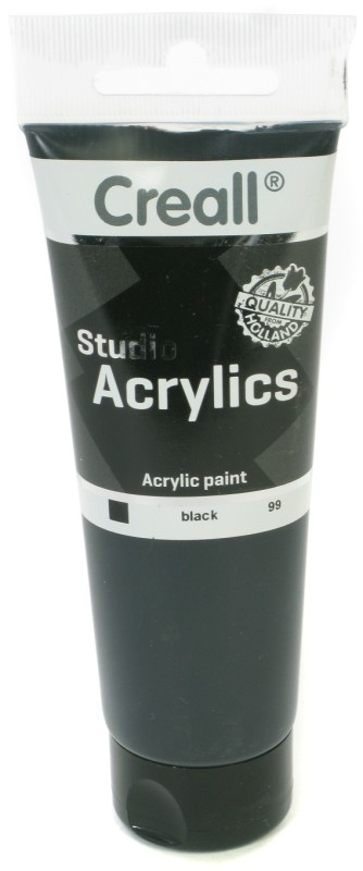 Creall Studio Acrylics Tube: 120 ml, 99 Black