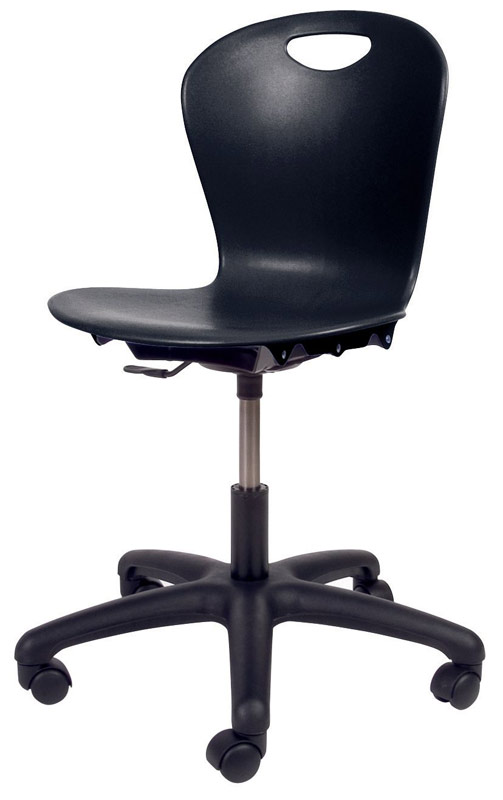 "Virco Zuma® 14"" -17"" Black Task Chair"