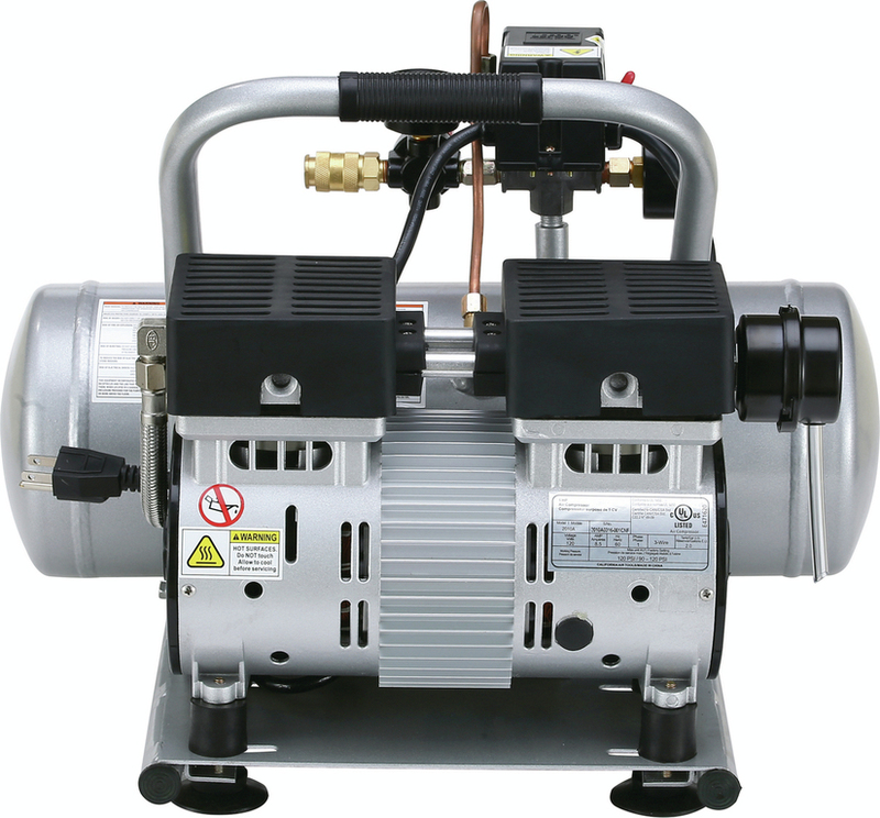 California Air Tools 2010A Air Compressor: 1.0 HP, 2.0 Gal. Aluminum Tank, Ultra Quiet, Oil-Free, Lightweight