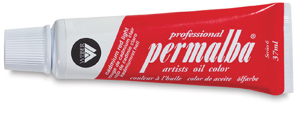 Professional Permalba Cadmium Red Light: 37ml Tube