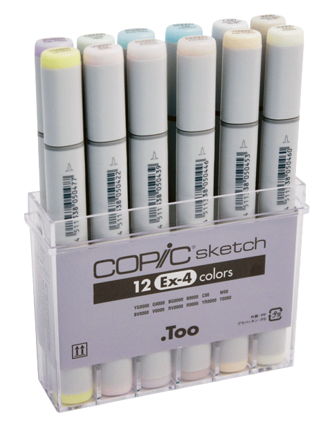 Copic Sketch Marker: 12-Color EX-4 Set