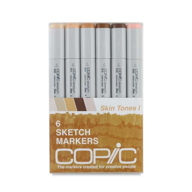 Copic Sketch Marker Set: 6-Color Skin Tones
