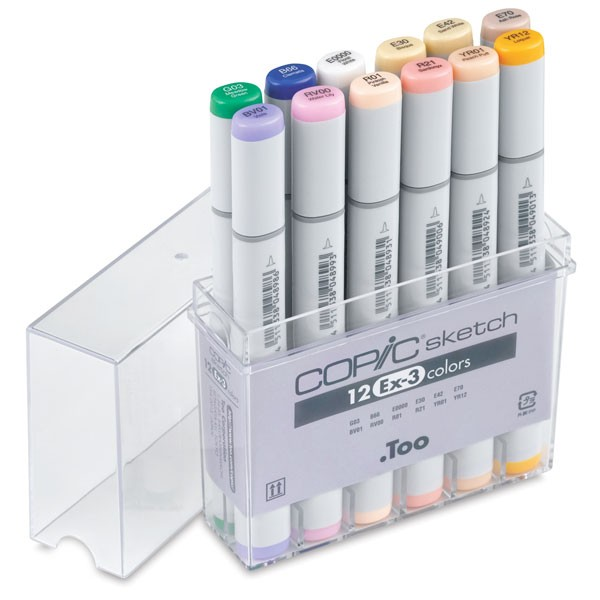 Copic Sketch Marker: 12-Color EX-3 Set