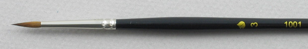 Trinity Brush Kolinsky Sable Short Handle Round Brush # 3 (Made in Russia)
