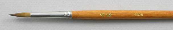 Trinity Brush Kolinsky Sable Long Handle Round Brush # 12 (Made in Russia)