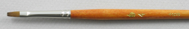 Kolinsky Sable 1105 Bright # 4 Brush: Head Shot