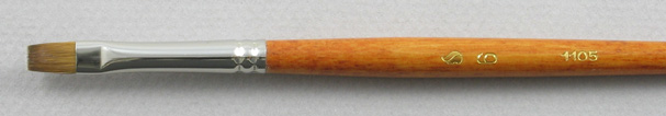 Trinity Brush Kolinsky Sable Long Handle Bright Brush # 6 (Made in Russia)