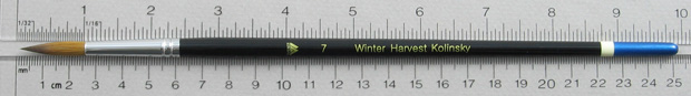 Winter Harvest Kolinsky Sable: Long Hair Round Size 7 Brush