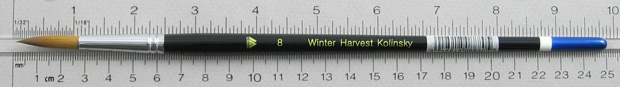 Winter Harvest Kolinsky Sable: Long Hair Round Size 8 Brush