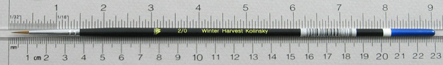 Winter Harvest Kolinsky Sable: Long Hair Round Size 2/0 Brush