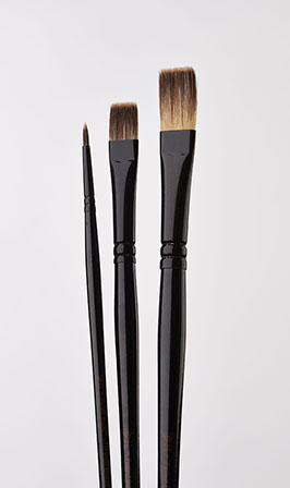 3-Piece Donna Dewberry Woil Brush Set, Includes No.8 Flat, No.6 Bright and No.0 Round