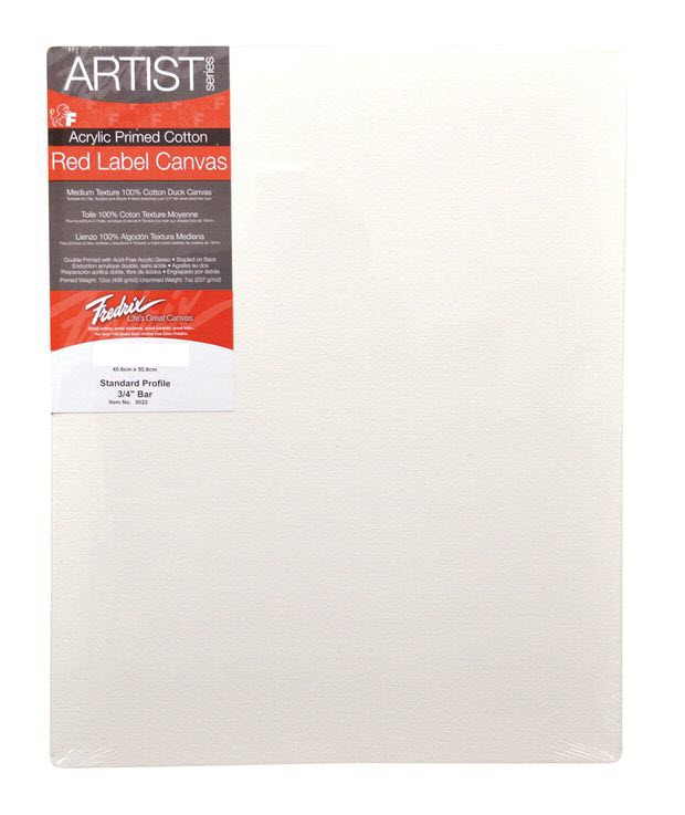 "Fredrix 5"" x 7"" Red Label Standard Stretched Canvas: Individual"