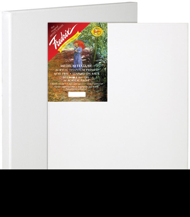 "Fredrix® Artist Series Red Label 6"" x 8"" Stretched Canvas: White/Ivory, Sheet, 6"" x 8"", 11/16"" x 1 9/16"", Stretched"