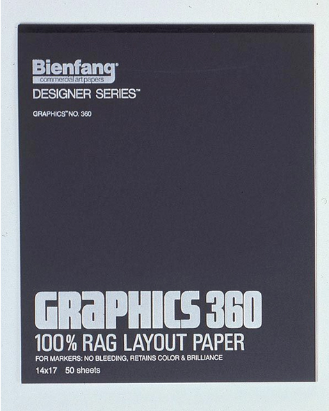 Alvin Bienfang® Graphics 100% Rag Felt Marker Layout Paper 11 x 14inches
