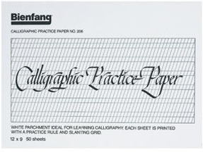 Alvin Bienfang® Calligraphic Practice Pad 9 x 12inches