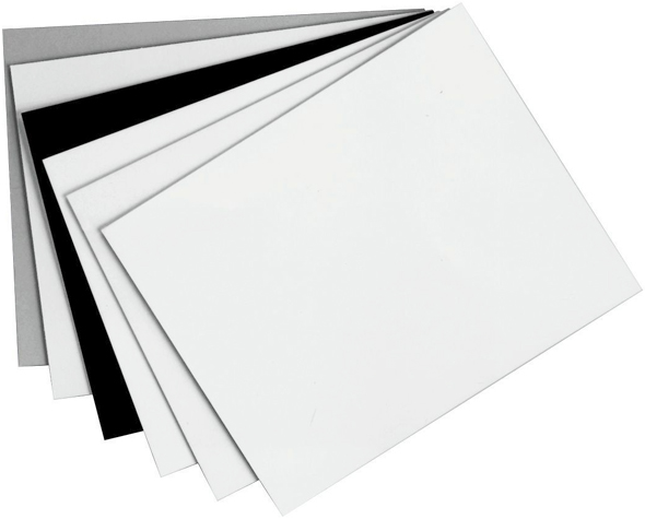 "Alvin® Black on Black Presentation Boards 20"" x 30"": Black/Gray, Matte, Sheet, 25 Sheets, 20"" x 30"", Presentation Board"