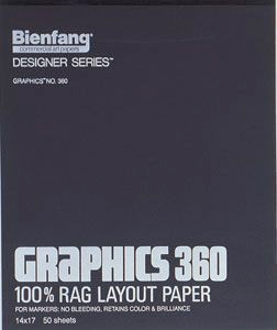 "Bienfang® Graphics 360 11"" x 14"" Layout Paper Pad: White/Ivory, Pad, 50 Sheets, 11"" x 14"""